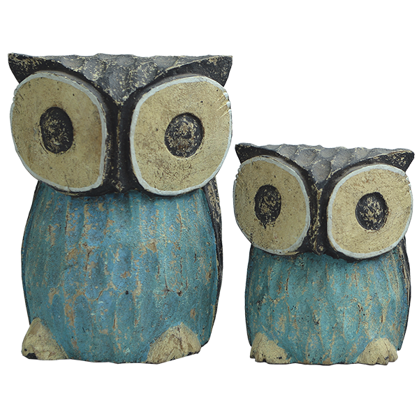 Wooden Rustic Owl - available in 4 sizes | Gaya Alegria