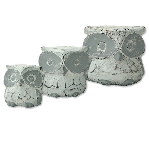 X-Small Rustic Owl - Set of 3
