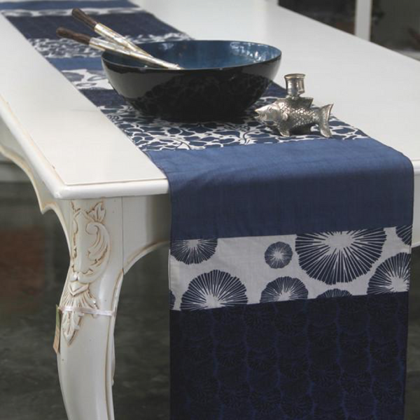Table Runner - Indigo Cotton - 245 cm