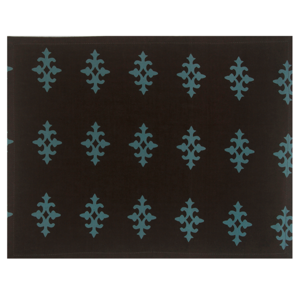 Fabric Placemats - Gemma Teal Brown