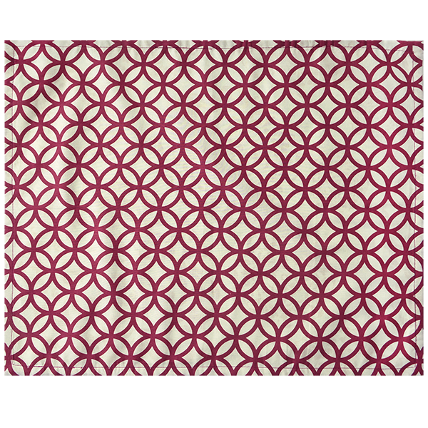 Fabric Placemats - Rings Beet red | Gaya Alegria