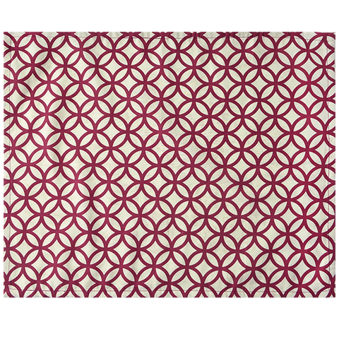Fabric Placemats - Rings Beet red