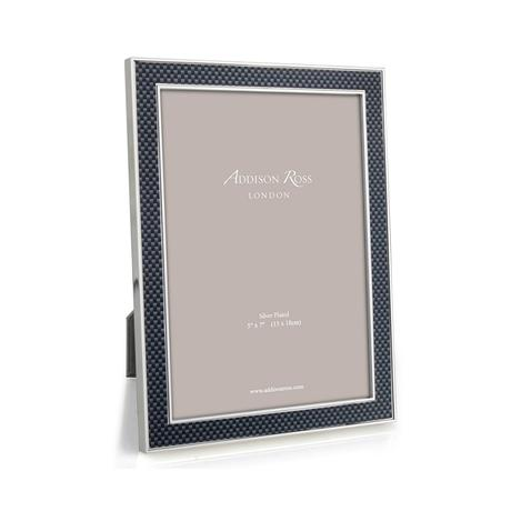 Photo Frame - Kacey Grey Fibre & Silver 15mm Photo Frame