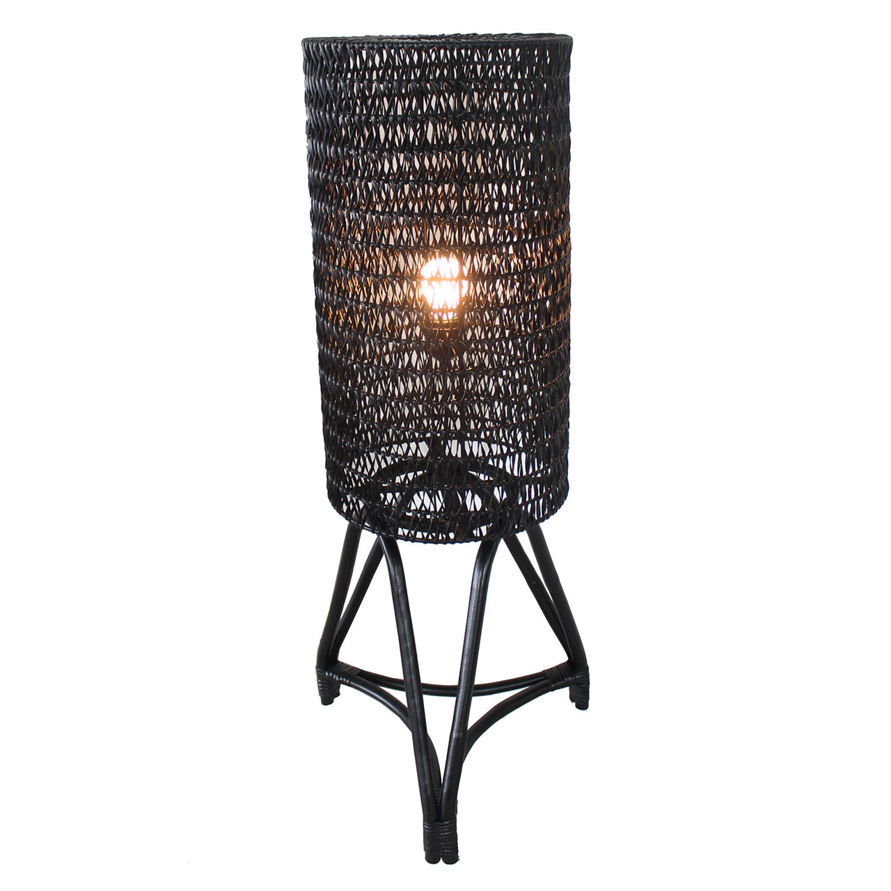 Floor Lamp - Astoria (BL-CAR-FULL RATTAN) | Gaya Alegria