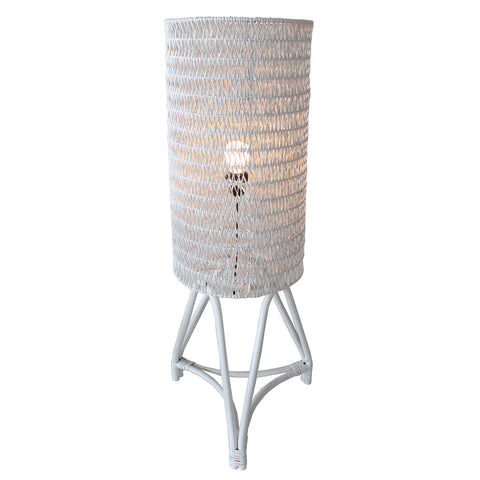 Floor Lamp - Astoria (White-CAR-FULL RATTAN)