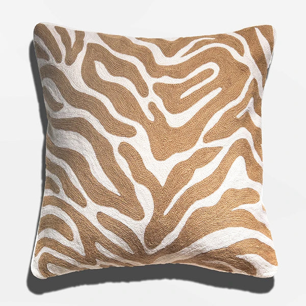 Cushion Cover - Batu Natural and White (L/50x50cm) | Gaya Alegria