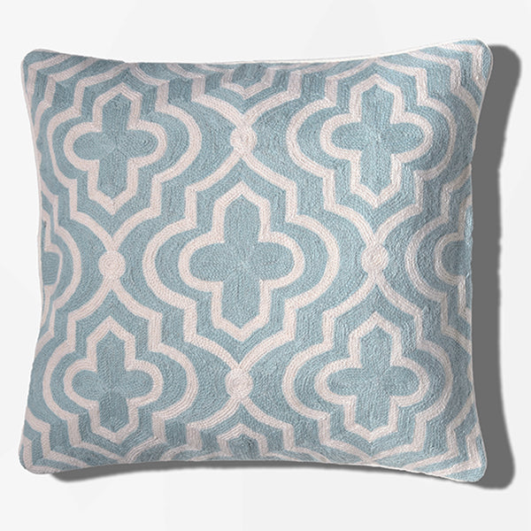 Cushion Cover - Casablanca Pale Blue (L/50x50cm) | Gaya Alegria