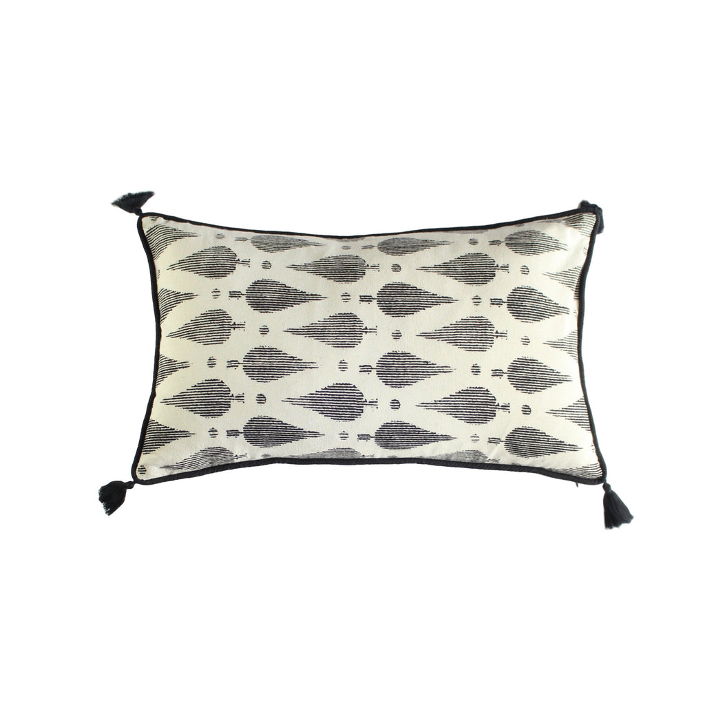 Cushion Cover - Cemara Black | Gaya Alegria