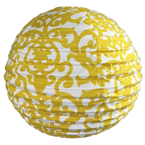 Lampshade (Fabric) -  Lavanda Yellow round