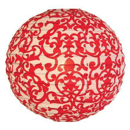 Lampshade (Fabric) -  Lavanda red round