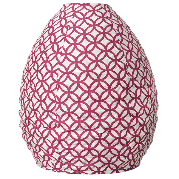 Lampshade (Fabric) -  Rings Beet