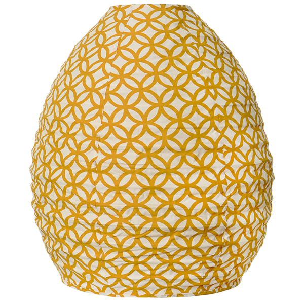 Lampshade (Fabric) -  Rings Turmeric
