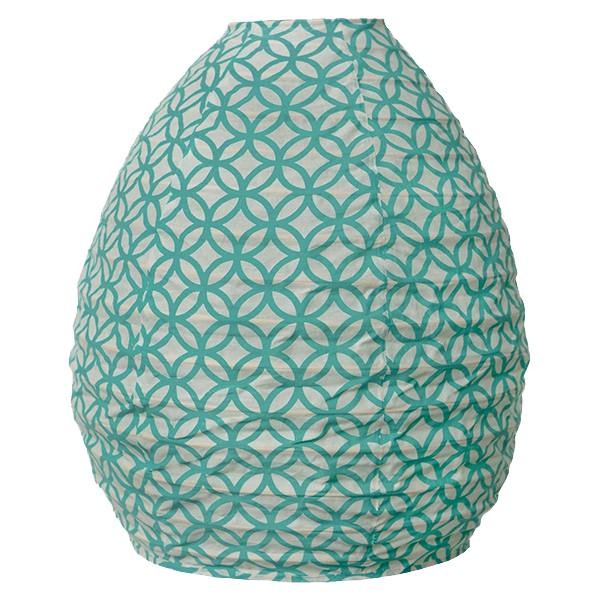 Lampshade (Fabric) -  Rings Turquoise