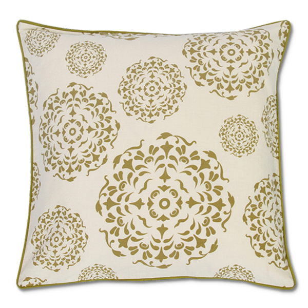 Cushion Cover - Universe Olive White (Medium / 45x45cm) | Gaya Alegria