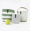 Mono Basket Adia  - Light green & white (no handles) | Gaya Alegria