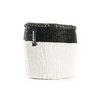 Mono Basket - Eva (Black/white & Leather Handles) | Gaya Alegria