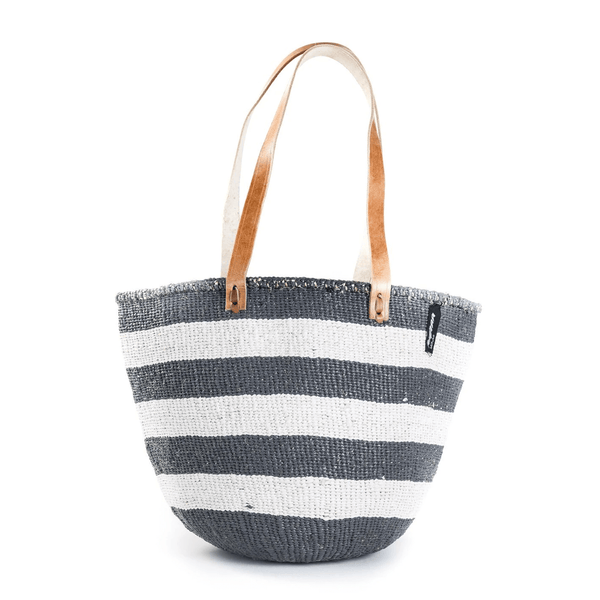 Mono Bag - Ella Nautical Gray with Long Leather Handles