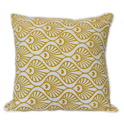 Cushion Cover - Pavo Citrus Yellow (M / 45X45cm) | Gaya Alegria