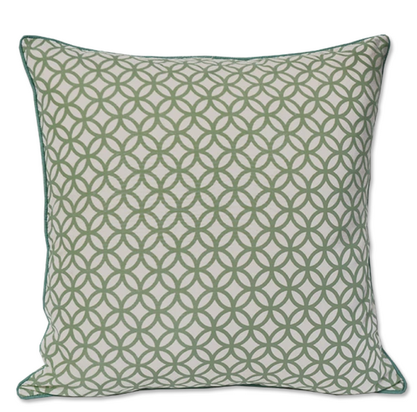 Cushion Cover - Rings Pistachio (50X50cm)-NEW