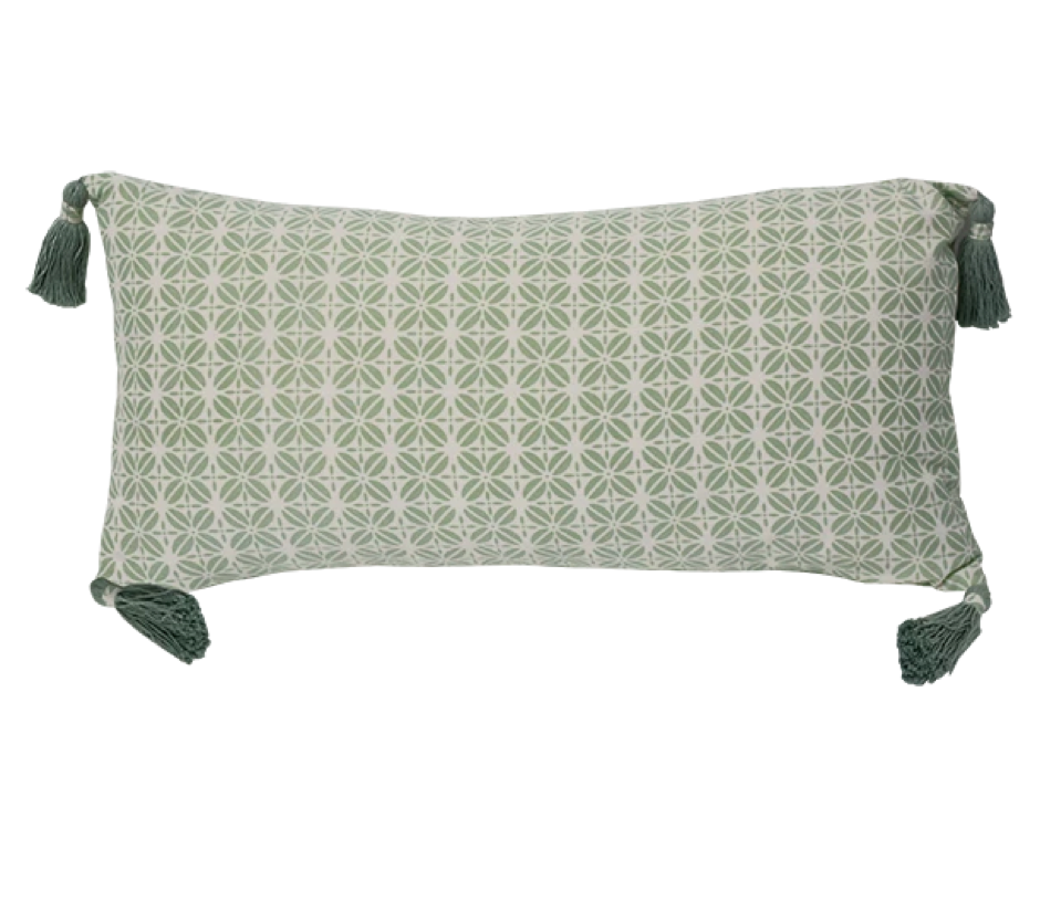 Cushion Cover - Kopi Luak Mint (30x60cm) | Gaya Alegria