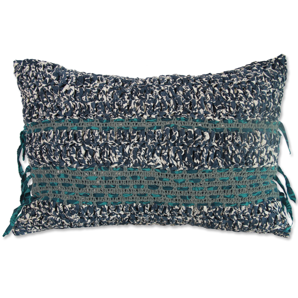 Cushion Cover - Crocheted Midnight Blue (L / 50X70cm) | Gaya Alegria