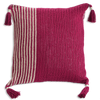 Cushion Cover - Crochet Beet red slim (M/45X45cm) | Gaya Alegria