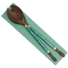 Teal Capiz & Palm Wood Salad Servers | Gaya Alegria