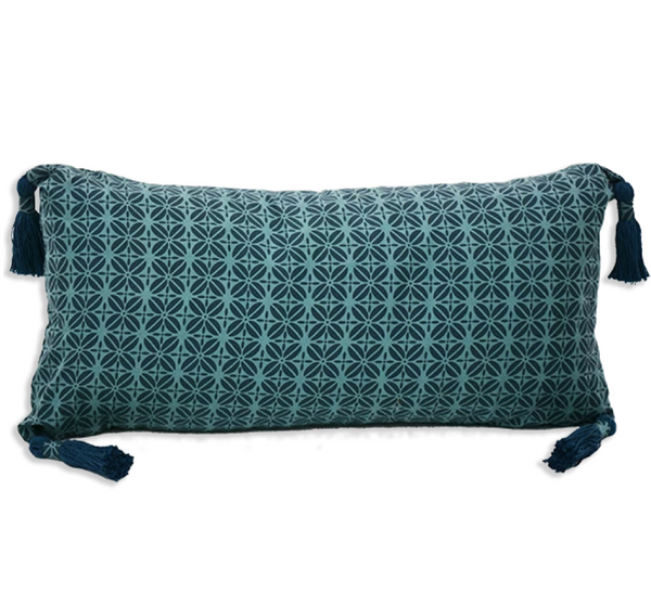Cushion Cover - Kopi Luak Teal Indigo (30x60)