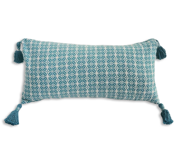 Cushion Cover - Kopi Luak Teal (30x60) | Gaya Alegria