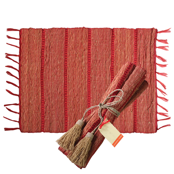 Placemat - Red Stripe (set / 6) | Gaya Alegria