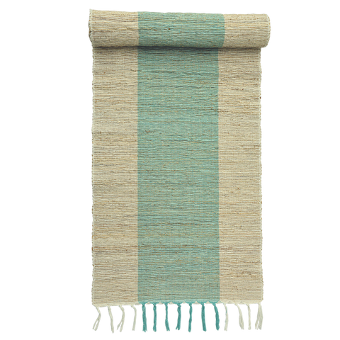 Table Runner - Turquoise one stripe runner