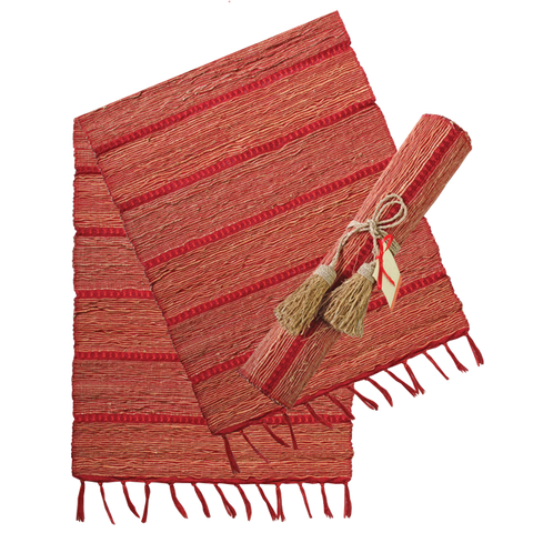 Table Runner - Red Stripe