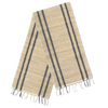 Table Runner - Beige Gray Stripe | Gaya Alegria