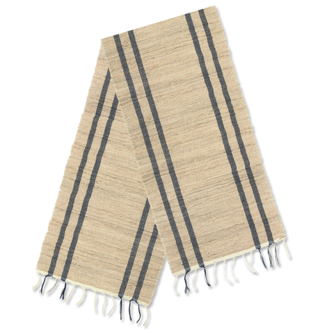 Table Runner - Beige Gray Stripe
