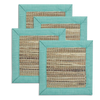 Turquoise waterlily coaster - set of 4 | Gaya Alegria