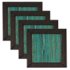 Turquoise Brown waterlily coaster - set of 4