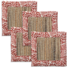 Litia coral waterlily coaster - set of 4