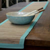 Table Runner - Aqua Waterlily runner (260 cm) | Gaya Alegria