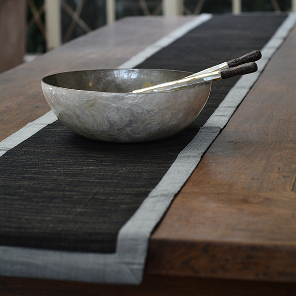 Table Runner - Grey/Black - 260 cm