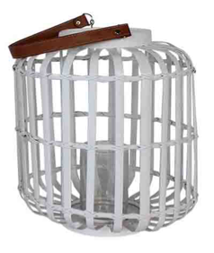 Lantern - ALEXANDRA - White  (Small & Large)