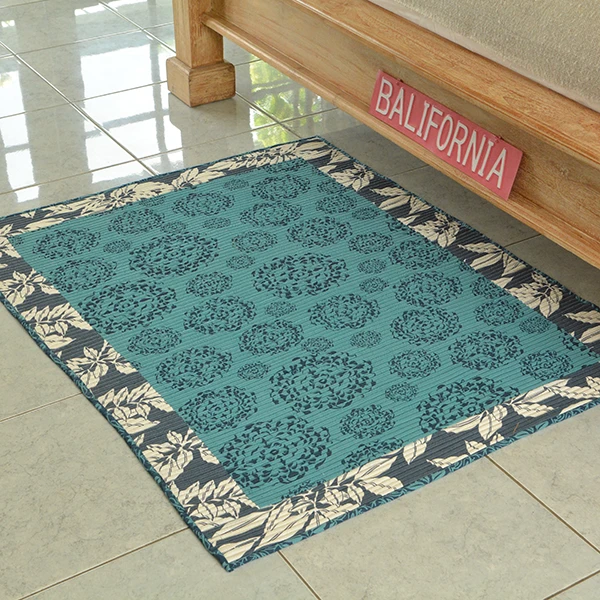 Corded Carpet -  Navy / Teal (S/91x122cm) | Gaya Alegria