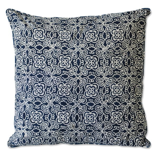 Cushion Cover - Basque Midnight Blue (M) | Gaya Alegria
