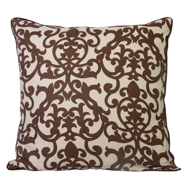 Cushion Cover - Lavanda Cinnamon Brown (M / 45x45cm) | Gaya Alegria