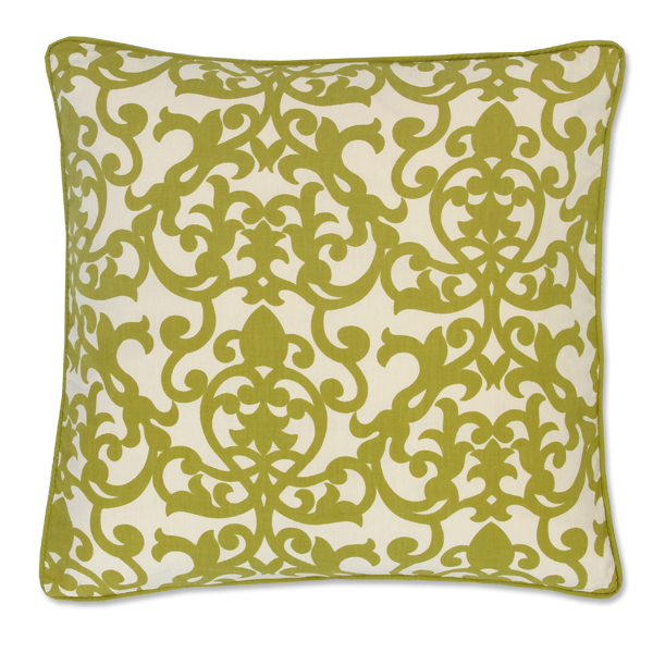 Cushion Cover - Lavanda Lime Green (M) | Gaya Alegria