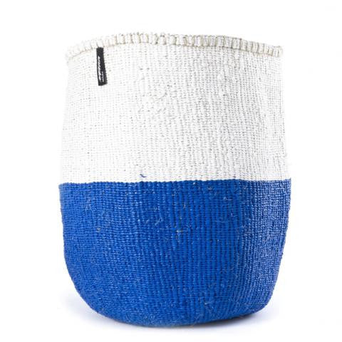 Basket - Sarah (White/Navy Blue - no handles)