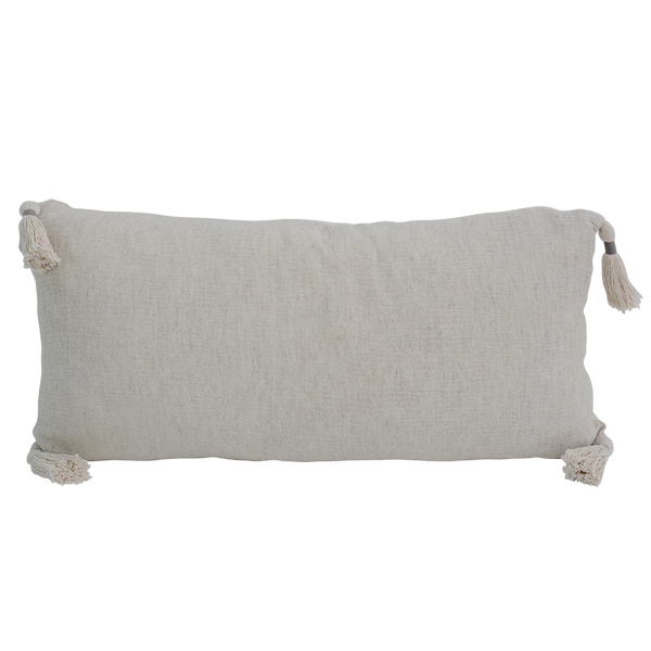 Cushion Cover - Wrinkie Natural (30x60) | Gaya Alegria