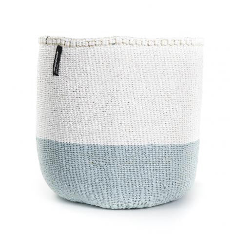Basket - Sarah (White/Light Blue-no handles) | Gaya Alegria