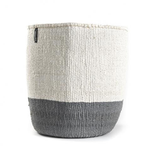 Basket -Sarah (White/Grey-no handles)