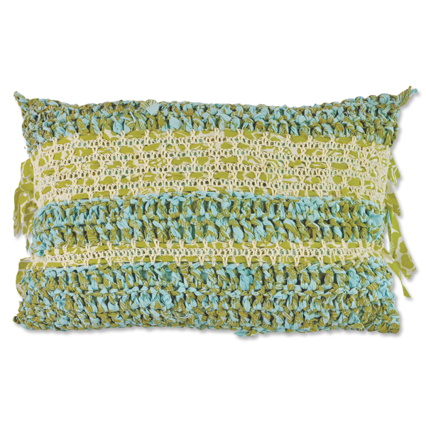 Cushion Cover - Crocheted Green (L / 50X70cm) | Gaya Alegria