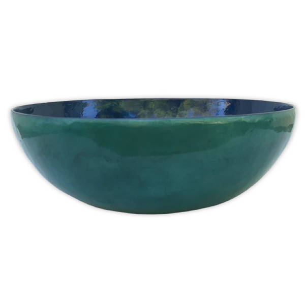Water Blue Capiz Salad Bowl | Gaya Alegria